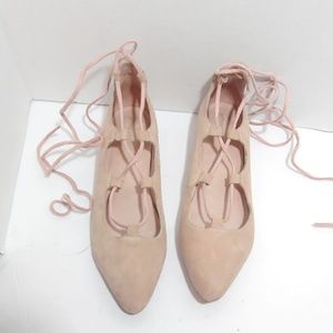Jeffrey Campbell lace up ballet flats